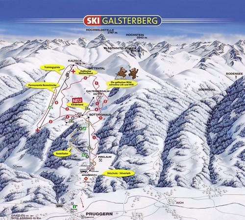 Galsterbergalm - mapa sjezdovek