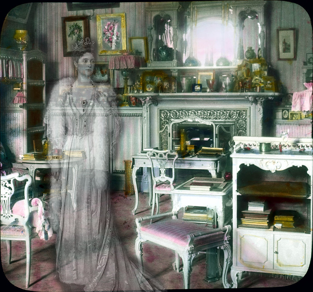 The ghost of Alexandra in her dressing room.