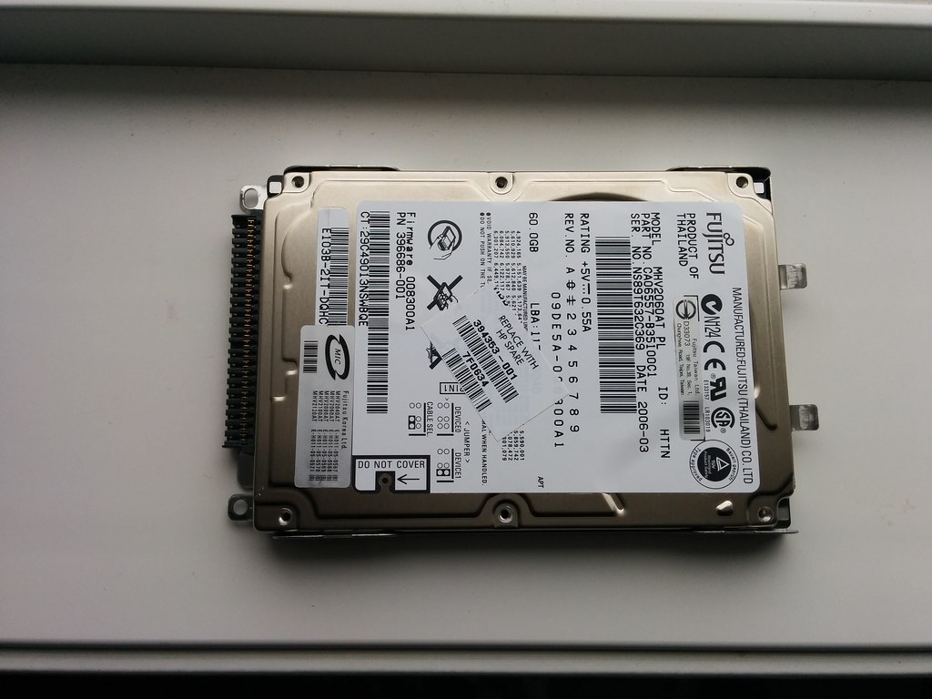 Hard drive (top)