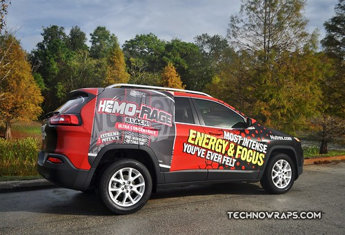 Jeep Cherokee vehicle wrap by TechnoSigns in Orlando, Florida