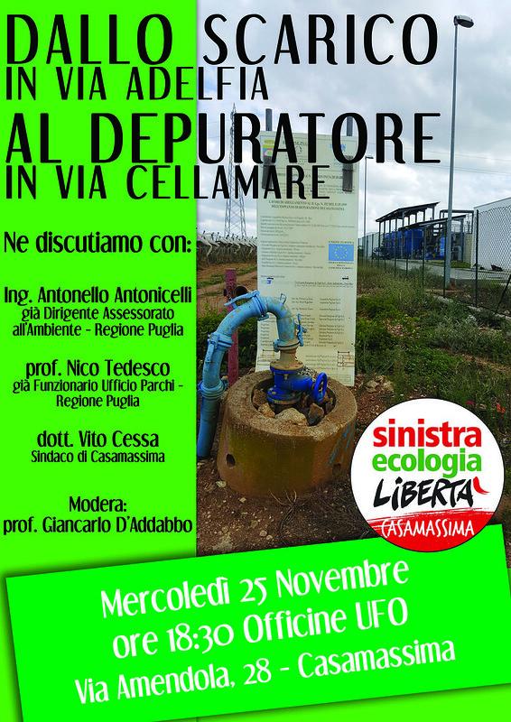 Casamassima-L'ambiente al centro del dibattito di Sel-Dibattito Sel del 25 novembre