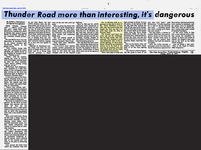 Thunder Road More Than Interesting It's Dangerous - The Free Lance-Star - Apr 14, 1972
