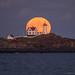 Full Moon Behind Nubble by BenjaminMWilliamson