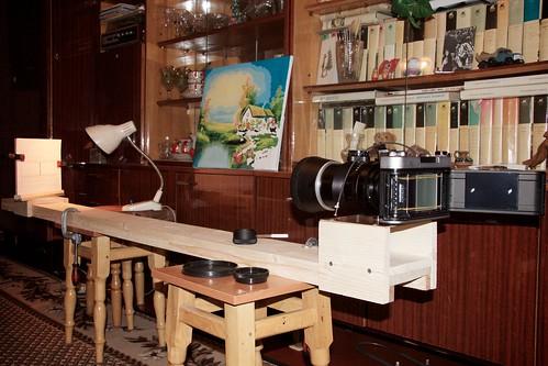 Оптическая скамья для настройки фототехники