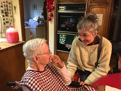 Dementia. Love prevails. Happy 91st Bday, Mom.