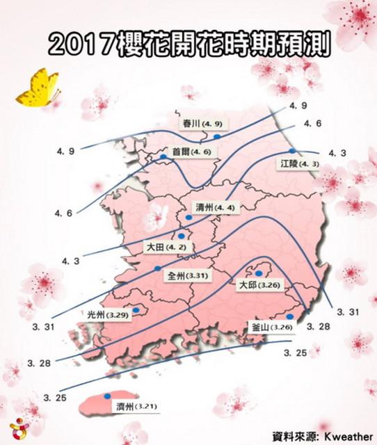 2017櫻花預測時間1