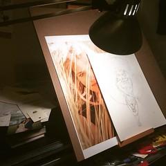 #photo #desktop #sketch #drawing again in new drawing board #girl #workinprogress
