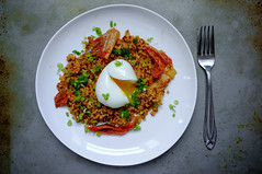 Kimchi Fried-Quinoa with Soft-boiled Egg