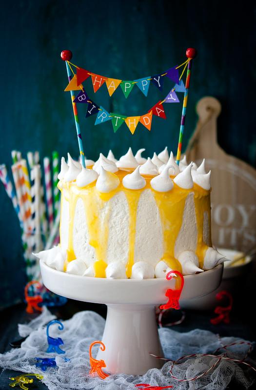 Zitronen -Torte