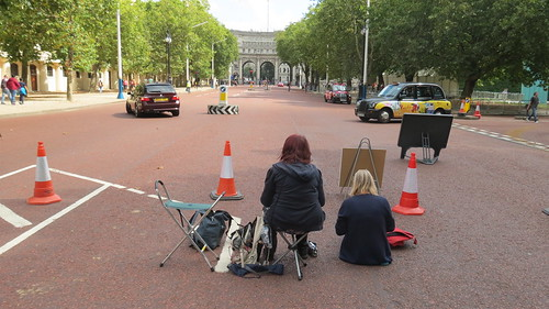 London Urban Sketchers - The Mall to Trafalgar Square Sketchcrawl 16th August 2015