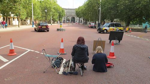 London Urban Sketchers - The Mall to Trafalgar Square Sketchcrawl 16th August 2015