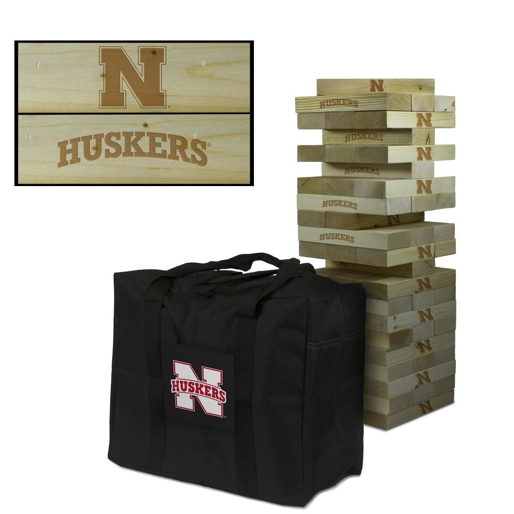 Nebraska Cornhuskers Wooden Tumble Tower Game
