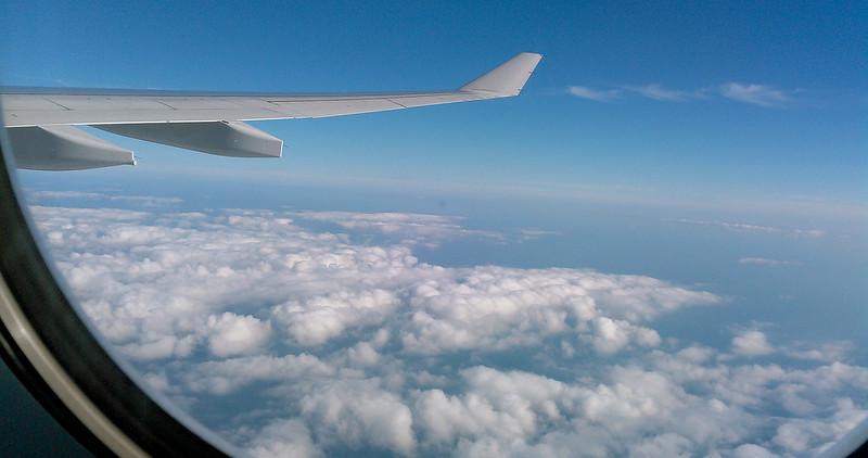Volando hacia España