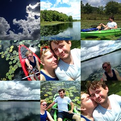 My boyfriend and I out kayaking today!