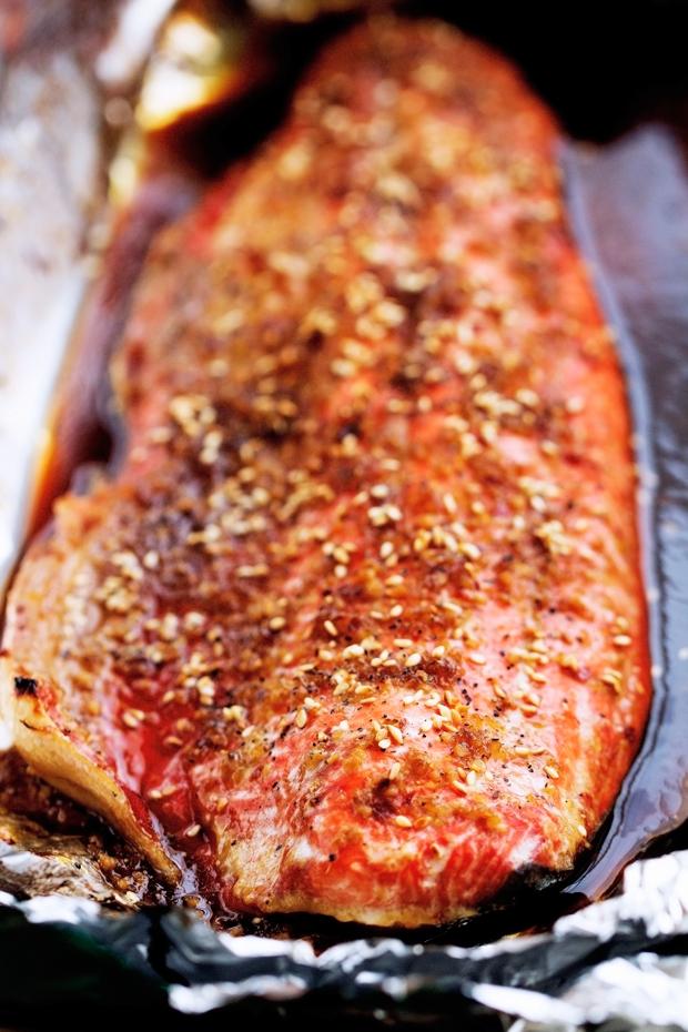 Sesame Ginger Baked Salmon In Foil Recipe Little Spice Jar