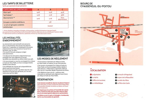 LA QUINTAINE à Chasseneuil-du-Poitou - 2015 - BILLETTERIE TARIFS 2015