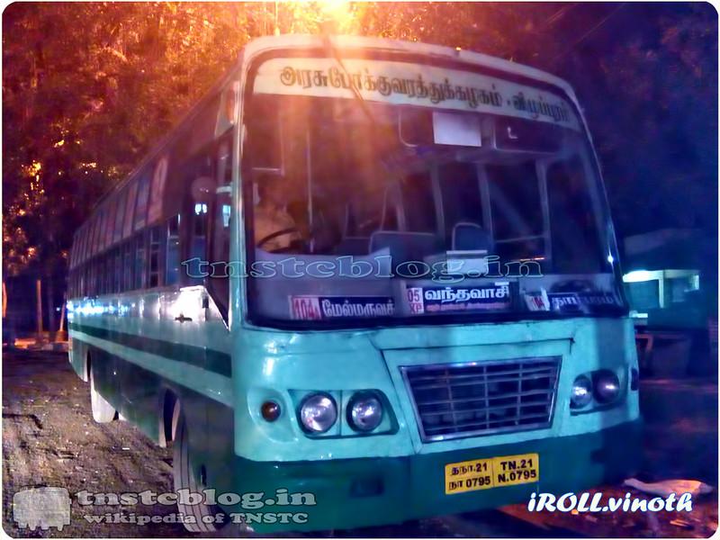 TN-21N-0795 of Vandavasi 1 Depot Route 105 Vandavasi - Adyar via Melmaruvathur, Perungalathur, Tambaram, Medavakkam, Velachery