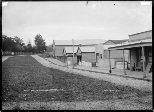 View along Bow Street, Raglan, from the south side...