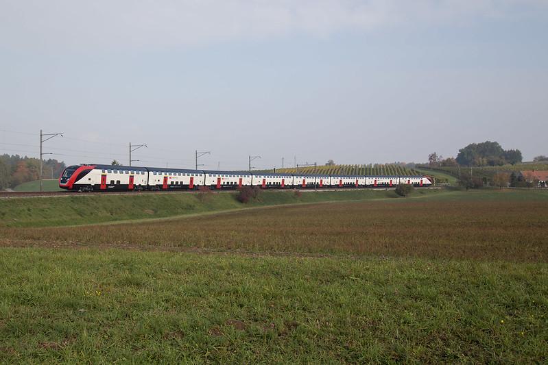 SBB RABe 502 203 TWINDEXX auf Testfahrten