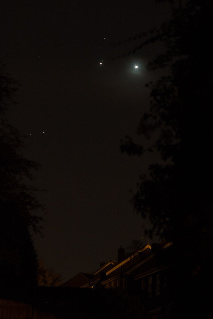 Venus, Jupiter and Mars