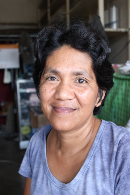 "Dulag public market vendor Aida P. Tacdog. During Yolanda, ""everyone was crying,"" she remembers"