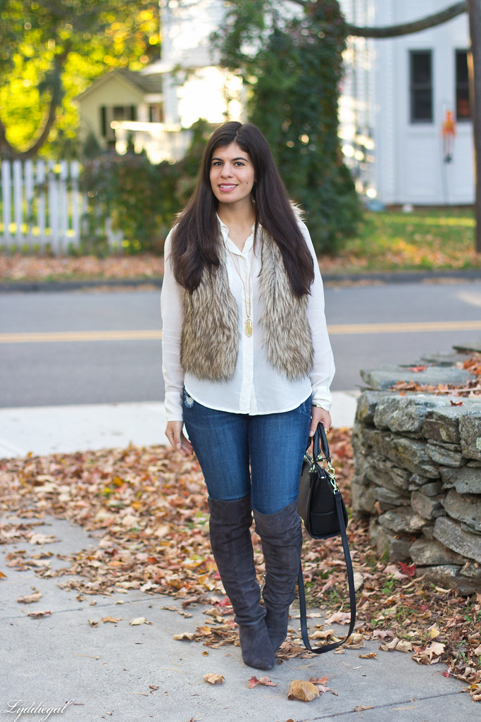 white blouse, fur vest, over the knee boots-1.jpg