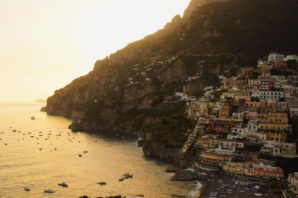 VSCO sunset at Positano