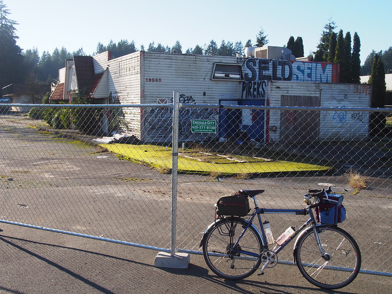 Abandoned Dairy Queen: This is where the Interurban Trail crosses SR-99 in Shoreline.  I remember back when it was an operating restaurant!