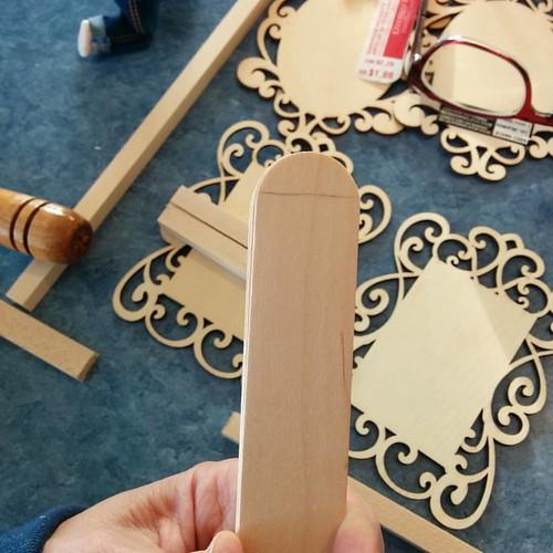 And the jumbo craft stick slats
