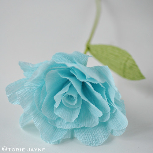 Crepe Paper Rose Tutorial 16