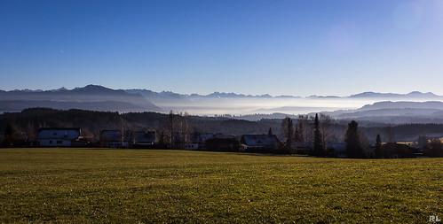 Panoramablick Allgäuer Alpen