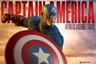 Sideshow Collectibles【美國隊長史蒂芬.羅傑斯】Avengers Assemble Captain America 1/5 比例全身雕像作品