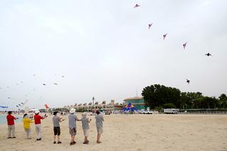 Image of Sunset Beach Beach with a length of 2963 meters. dubai unitedarabemirates ae kite beach flying team dikf