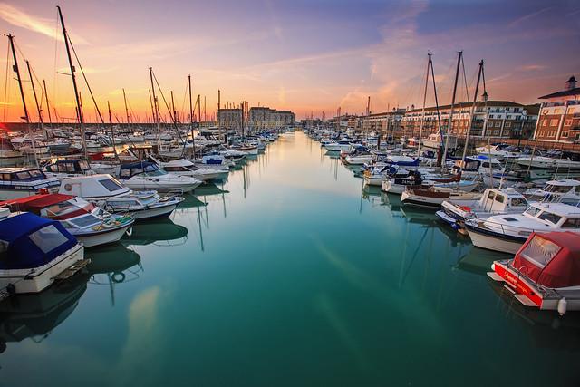 Brighton Marina Sunset