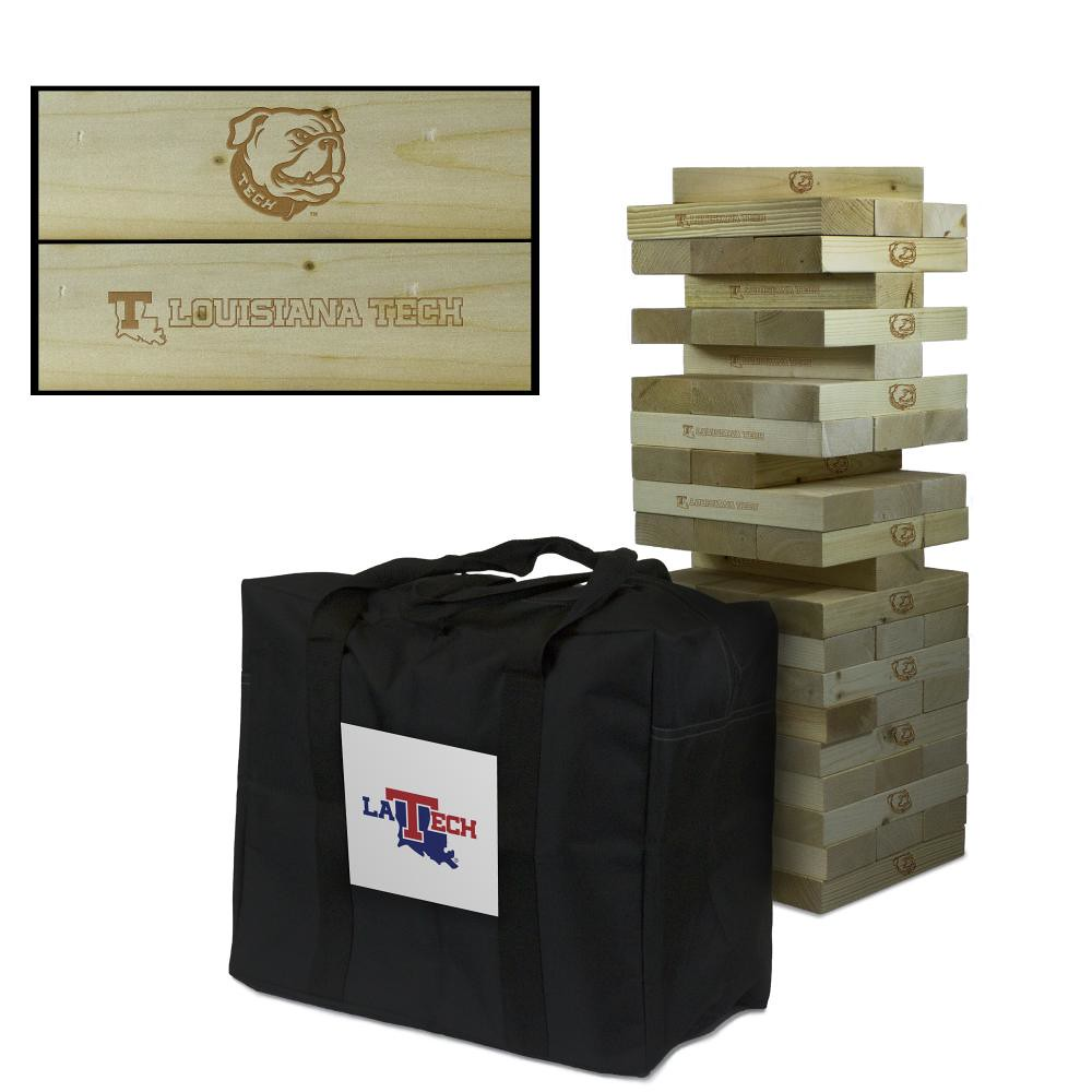Louisiana Tech University Bulldogs Wooden Tumble Tower Game