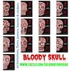 Halloween Bloody Skull by Juliana RW