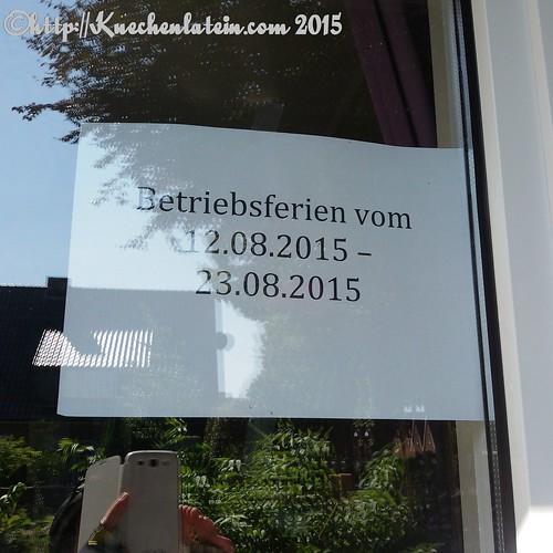 Café Viktoria Luise in Rendsburg Betriebsferien