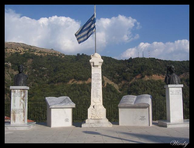 Grecia Nauplia Esparta Mistrás Olimpia - Monumento en Lagadia