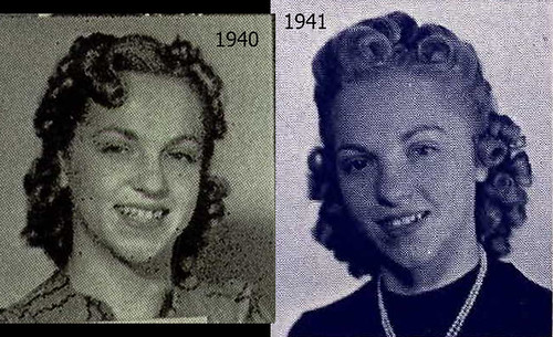 Dorothy Denman 1940  and 1941 yearbook picture
