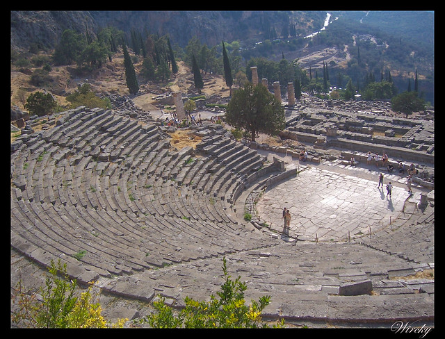 Grecia Delfos Osios Lukas Kalambaka - Teatro de Delfos