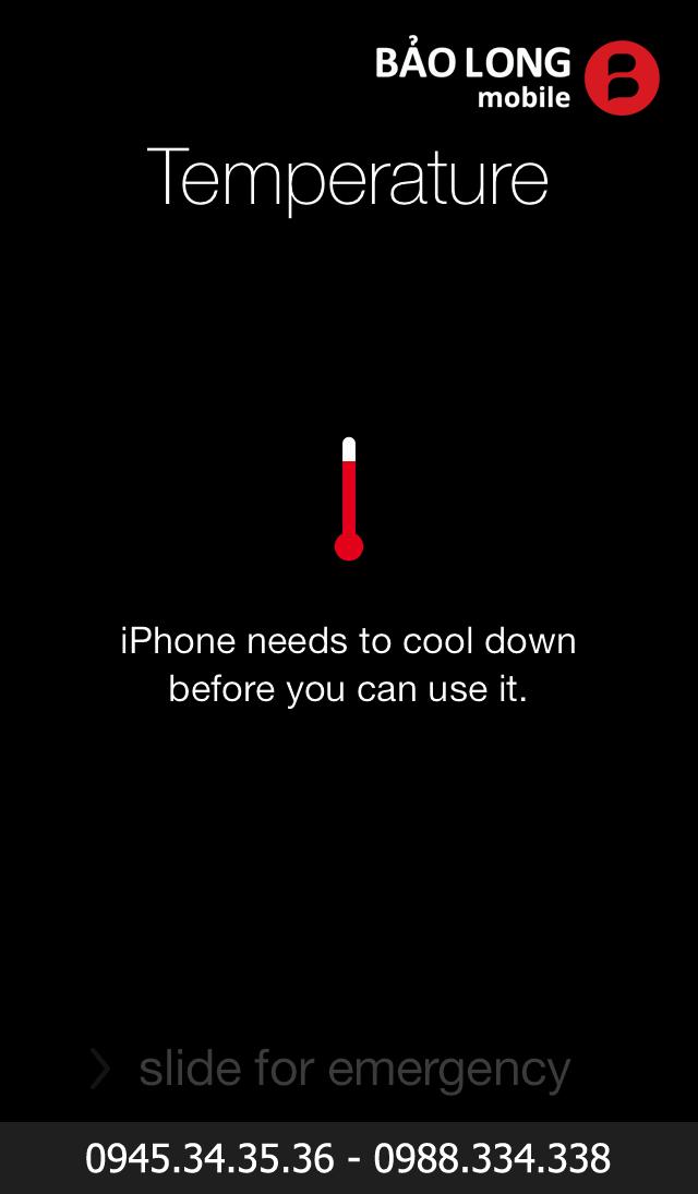 Sửa iphone 6/6 Plus báo nhiệt độ, nóng máy