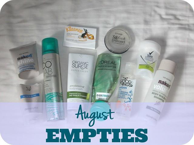 August Beauty Empties