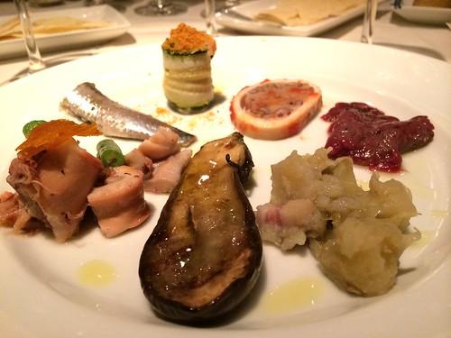 サルデーニャの前菜盛り合わせ@オステリア・トット