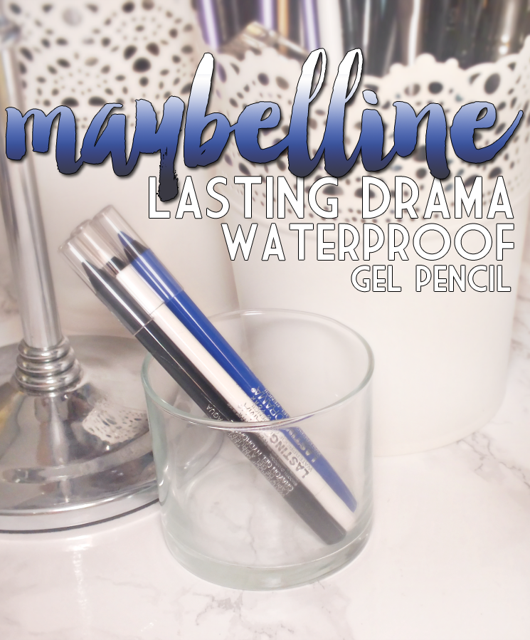 Maybelline Lasting Drama Waterproof Gel Pencil Cashmere White, Lustrus Sapphire, and Smooth Charcoal (3)