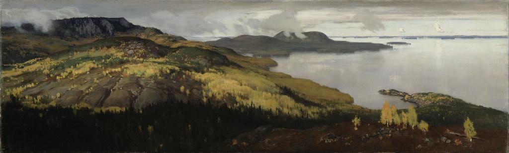 Eero_Järnefelt_-_Autumn_Landscape_of_Lake_Pielisjärvi_-_Google_Art_Project
