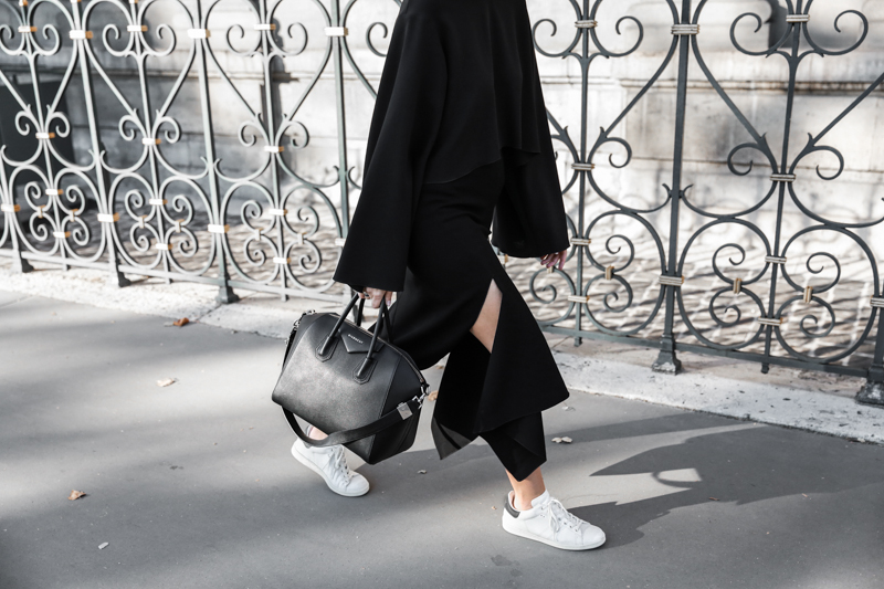 paris fashion week, street style, ss16, Ellery, Protege Flare sleeve top, Isabel Marant sneakers, Givench Antigona, monochrome, modern legacy, fashion blogger (1 of 1)