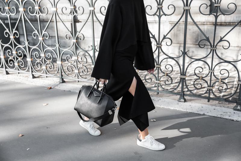 paris fashion week, street style, ss16, Ellery, Protege Flare sleeve top, Isabel Marant sneakers, Givench Antigona, monochrome, modern legacy, fashion blogger (1 of 1)