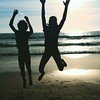 They, on the other hand, LOVE the beach. :bikini::shell::ocean::heart_eyes::heart::heartpulse: #12blaxx #losangeles