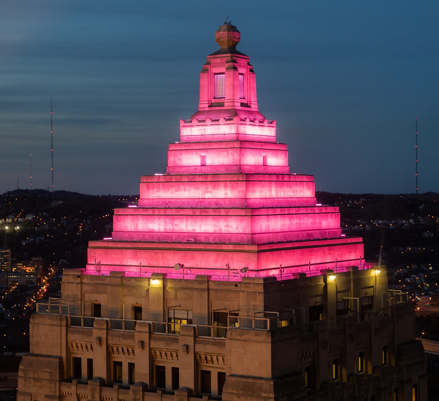 Gulf Tower in Pink  -  Pittsburgh