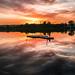 Raft in sunset by Patrik Estius